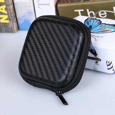 Portable Square Hard Storage Case Bag for Earphone Headphone SD TF Card Coins