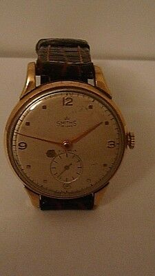 Vintage Rare 1955 9 Ct Oversized Gents Smiths De Luxe English Made Wrist Watch