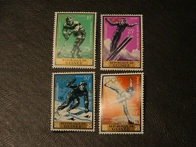 Republic Guinea Stamps SG 435/38 set 4 MNH issued 1964 Winter Olympics Innsbruck