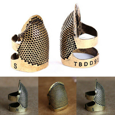 Brass Sewing Thimbles Finger Shield Protector Craft Hand Sewn Metal Thimble