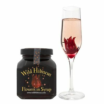Wild Hibiscus Flowers In Syrup For Prosecco Champagne Drinks Edible Flower 250G