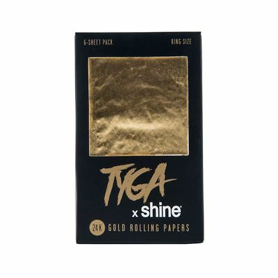 New Shine Tyga King Size 24k Gold Papers  6 Sheet Per Pack