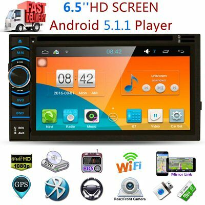 """6,5 """"2 DIN HD Auto GPS Nav WIFI Radio Stereo DVD Player Quad Core 3G Android 5.1"""