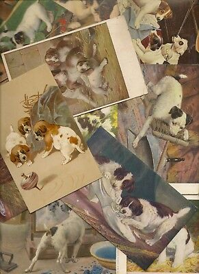 Dogs Lot Of 20 Artist Drawn Cards