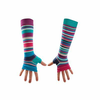 United Oddsocks Turquoise Long Arm Warmers Sleeves Mis-Match Fingerless Gloves