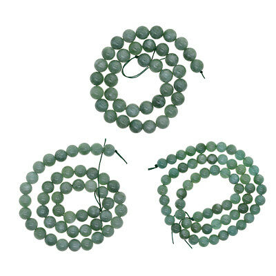 6mm 8mm 10mm Natural Malay Jade Gemstone Round Spacer Stone Loose Beads DIY