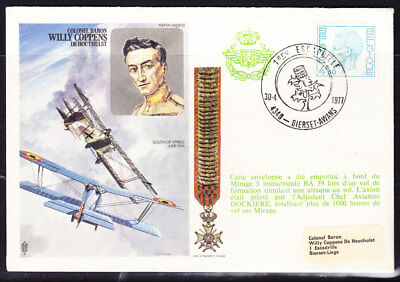 "Belgium 1977 ""Trident"" Willy Coppens Flight Cover"