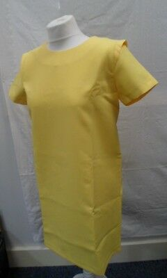 Zara Basics Ladies Yellow Shirt Sleeve Shift Dress Size M BNWT