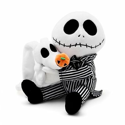 Disney Nightmare Before Christmas Jack Skellington & Zero Soft Toy NEW NBC Rare