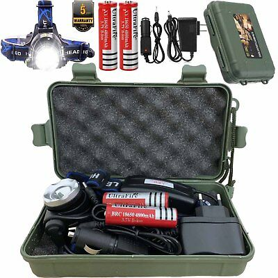 Zoomable 90000LM Rechargeable T6 LED Headlamp 18650 Battery Headlight Flashlight