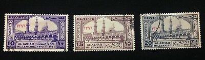 Egypt - Stamps - Set - Collection - 1957 -Millenary of Al Azhar University Cairo