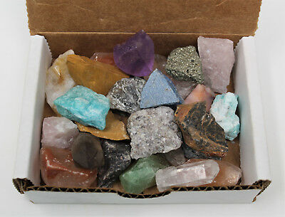 Bulk MINIATURE Crafters Collection 1/2 lb Box Gems Crystals Natural Raw Minerals