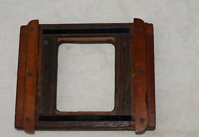 Antique Wooden Lens Mounting Board Holder For Mahogany Cameras
