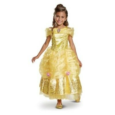 NEW Disney Princess Girls' Belle Deluxe Halloween Costume - Yellow - Size:S