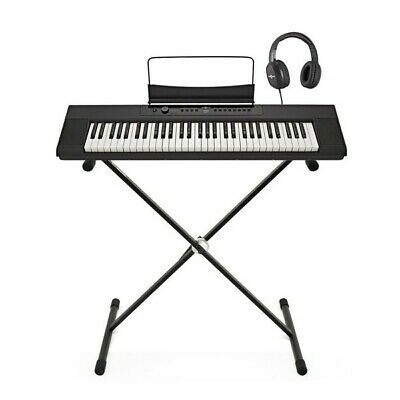 SDP-1 Portable Digital Piano by Gear4music + Stand and Headphones