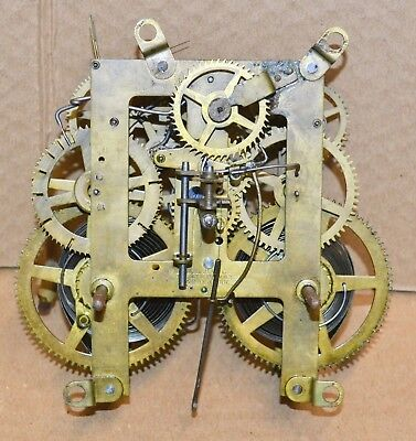 Antique E. Ingraham 8 Day Time Strike Mantle Clock Movement for Parts 1879