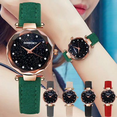 Fashion Women's Girl Classic Casual Quartz Watch Simple Leather Wrist Watches