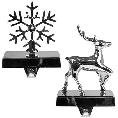 Festive Stocking Holder Weighted Hanger Christmas Home Decoration Snowflake Deer