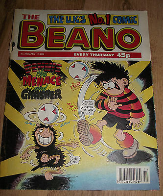 The Beano Comic Issue No 2908 11 April 1998