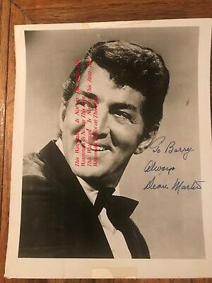 Dean Martin Singer Comedian Actor Entertainer Original Autographed Photograph #3