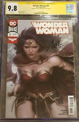 "Wonder Woman #51 variant_CGC 9.8 SS_Signed by cover artist Stanley ""Artgerm"" Lau"