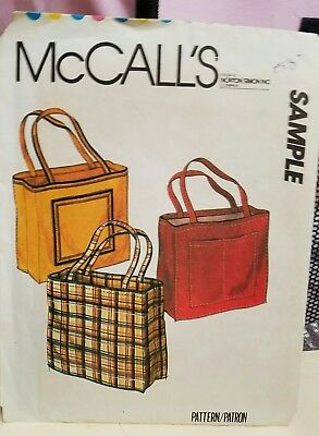VINTAGE McCall's SAMPLE Sewing Pattern TOTE BAGS