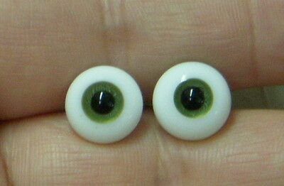 IMSCO SOLID GLASS PAPERWEIGHT DOLL EYES - 12mm GREEN -  Bulbous - SO LOVELY!