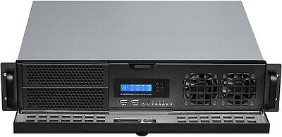 "2U LCD (Lock Door)(Micro-ATX/ITX) (2x5.25""+2xHDD Bay)Rackmount D:14.96"" Case NEW"