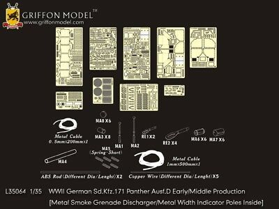 Griffon L35064 1/35 German Panther Ausf.D Early/Middle Production Detail Set