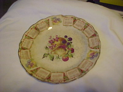 1909 CALENDAR PLATE ADVERTISING FROM CARNATION McNICOL POOR CONDITION  ***