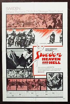 Sweden Heaven And Hell 1969 Original US One Sheet Poster