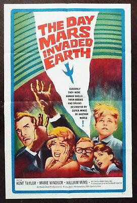 The Day Mars Invaded Earth 1963 Marie Windsor Kent Taylor Original US Poster