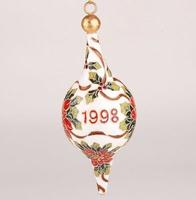 Vintage Chinese Cloisonne Enamel Pendant Statue Handmade Ball Decoration Gift
