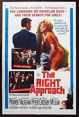 The Right Approach 1961 Frankie Vaughn Juliet Prowse Original US Poster