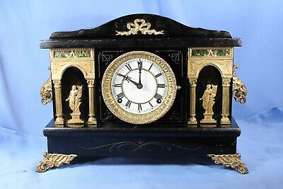 Sessions Antique Mantle Clock Beautiful Original Runs Great - Movt Overhauled!