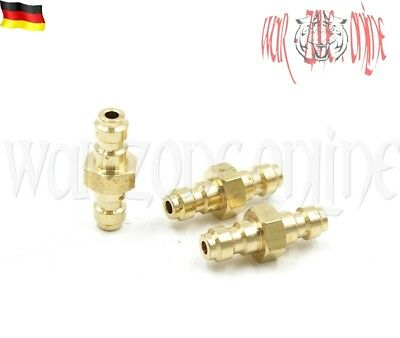 PCP Paintball Pneumatic Quick Coupler Double End Male Plug Fill Nipple 8mm 300ba