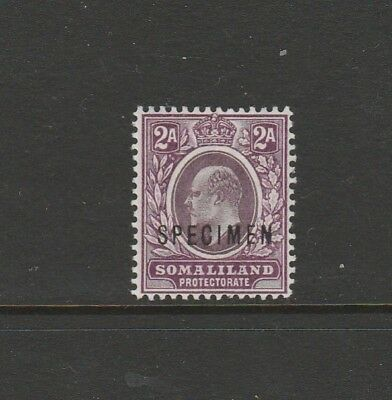 Somaliland 1904 Crown CA opt SPECIMEN 2a MM SG 34s