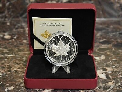 2017 Canada 2 Oz Silver Maple Leaf 150th Anniversary Commemorative Canadian Coin