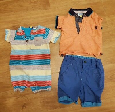 TED BAKER baby boys clothes bundle 3-6 months clorhes romper tshirt shorts
