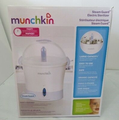 Steam Guard Electric Sterilizer Cleans 9 Baby's Bottle Feeding Warmers Large cap