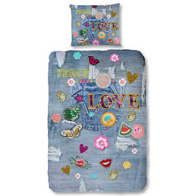 Good Morning Housse de couette 5737-P PATCHY 140x200/220cm Multicolore