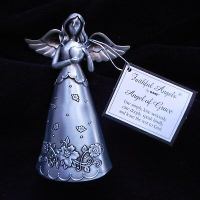 NEW Pewter Faithful Angel of GRACE Figurine by Ganz