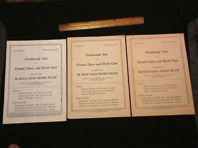 Vintage Railroad Booklets/official Railway Equip. Register/stock Cars/1961,62,69