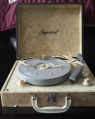 Vintage Imperial Portable Suitcase Record Player