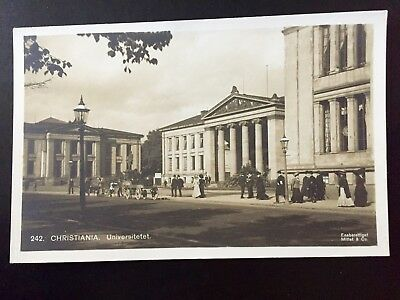 Real Photo Postcard Norway Norge Christiania University c 1915