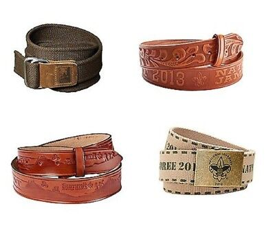 New Boy Scout Belt National Jamboree Summit Bechtel Reserve Tooled Leather Web