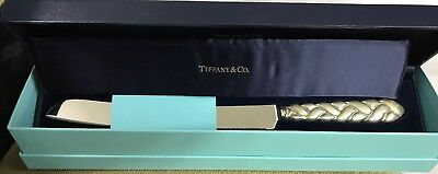 Sterling Silver Tiffany & Co Braided Handle Bread Knife New w/ Pouch WITH Box