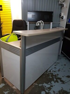 Modern Office reception desk, shop counter, barely used, collection only