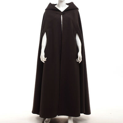 Halloween Hooded Cloak Cape Coat Wedding Witchcraft Medieval Vampire Costume