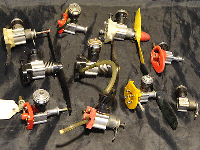 Vintage Lot of 10 Cox .049 and More Gas Model Engines (Need Repairs)